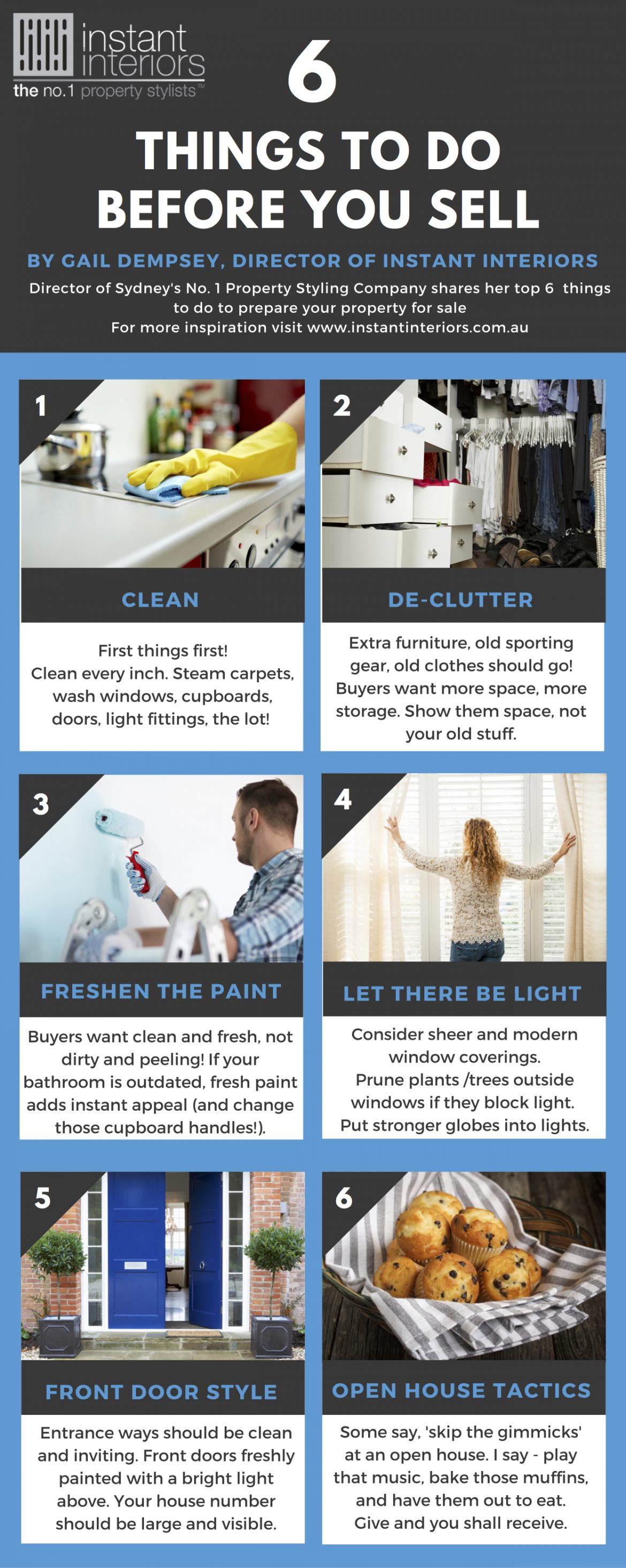 6 things to do before you sell infographic